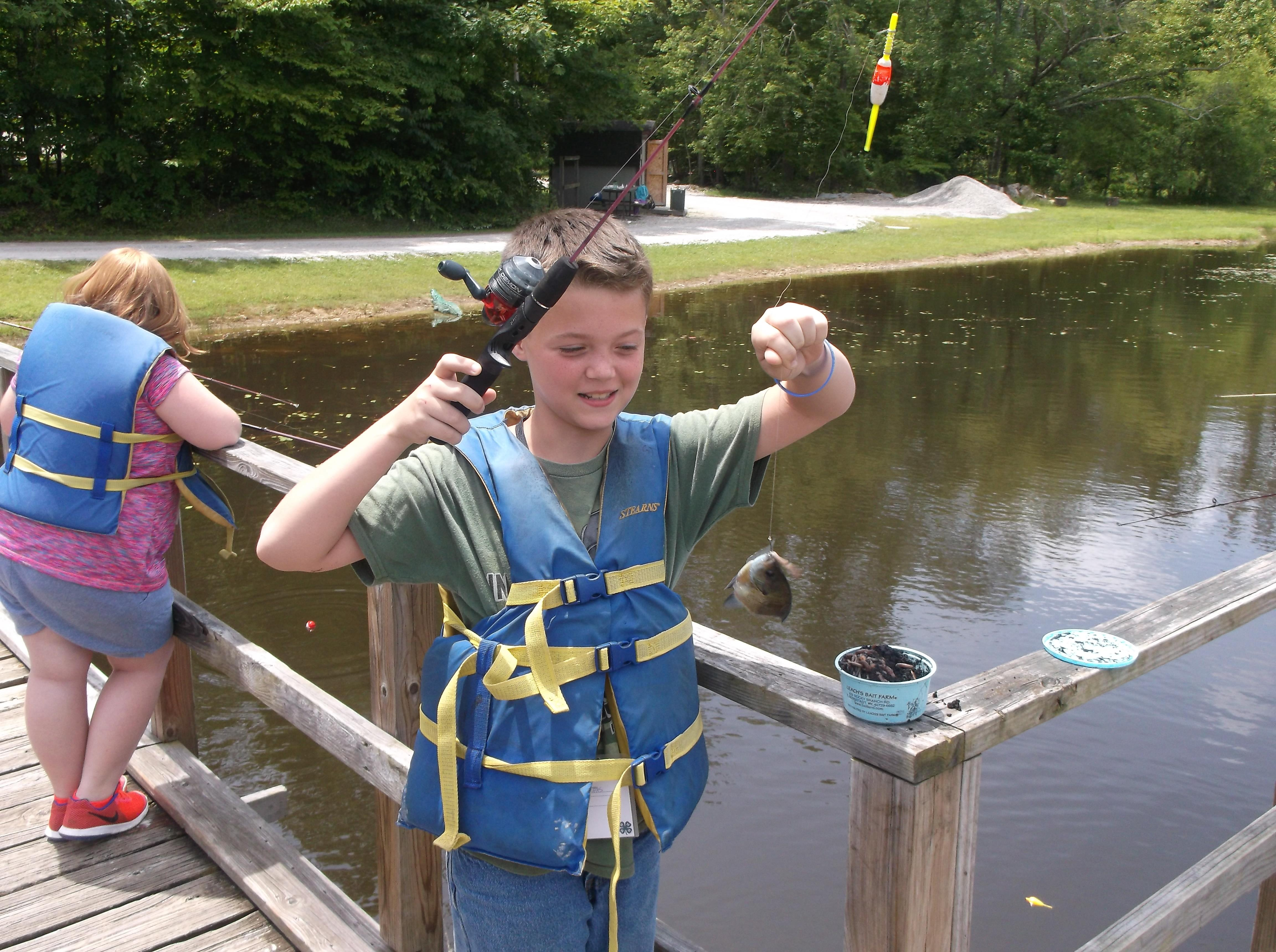 Fishing at 4-H Camp