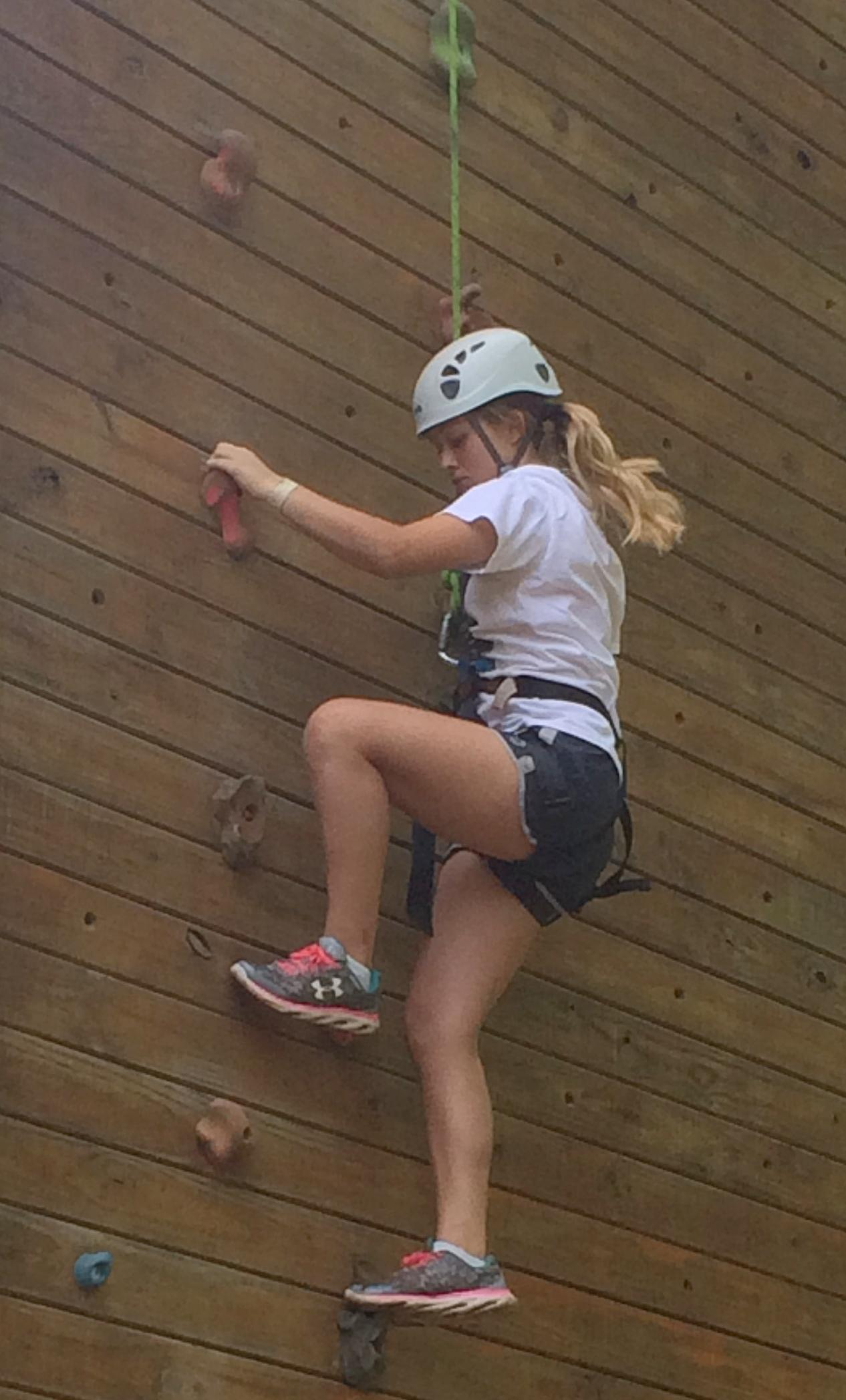 Rock Wall Climbing at 4-H Camp