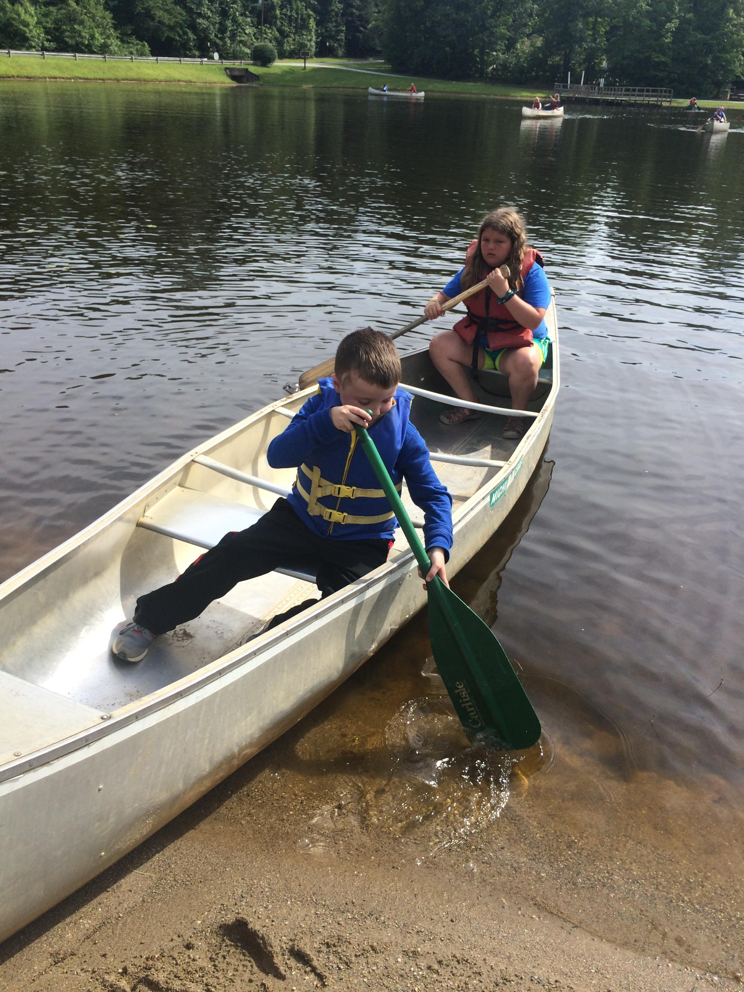 Canoeing at 4-H Camp